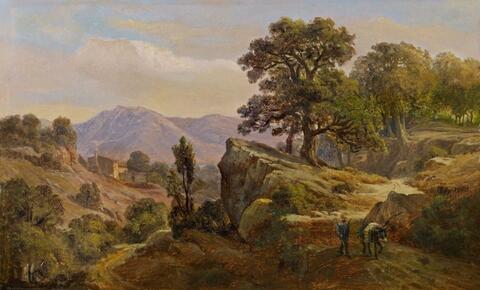 Johann Wilhelm Schirmer - ITALIAN MOUNTAIN LANDSCAPE