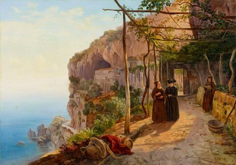Carl Wilhelm Götzloff - THE CONVENT OF THE CAPUCINS SAN FRANCESCO IN AMALFI