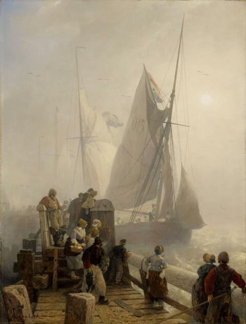 Andreas Achenbach - HOMECOMING SHIPS