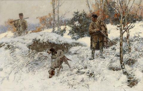 Jaroslav František Julius Vešín - HUNTING IN THE WINTER