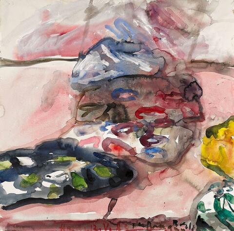 Klaus Fußmann - Untitled (still life with cloths)