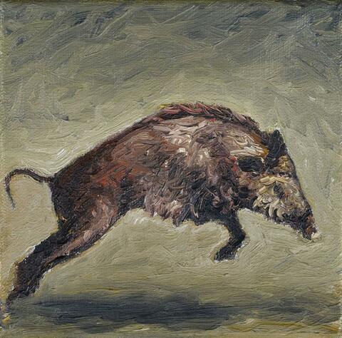Karin Kneffel - Ohne Titel (Wildschwein)