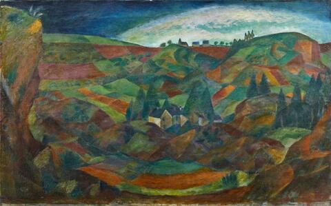Paul Adolf Seehaus - Große Eifellandschaft (Large Eifel Landscape)