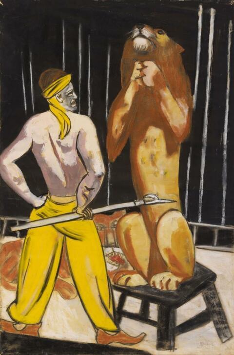 Max Beckmann - Löwenbändiger (Zirkus)