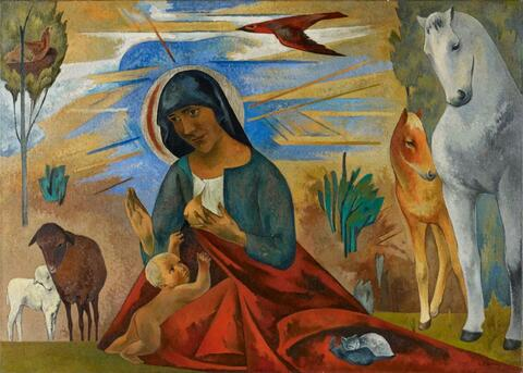 Heinrich Nauen - Madonna mit den Tieren (Madonna with the Animals)