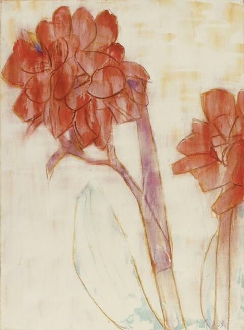 Christian Rohlfs - Rote Cannas (Red Cannas)