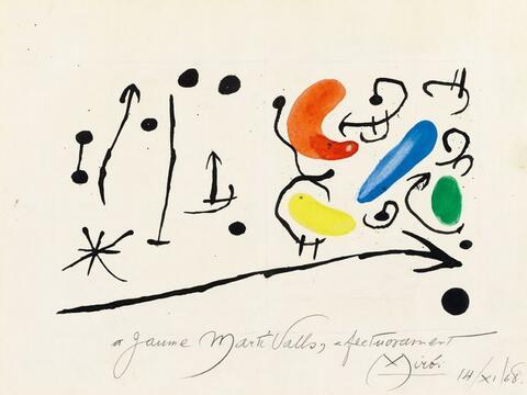 Joan Miró - Composition (Maquette pour Portada Premi Joan Miró)