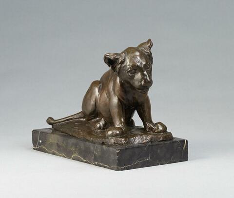 August Gaul - Sitzender junger Löwe (Dusselchen, Junger Löwe)