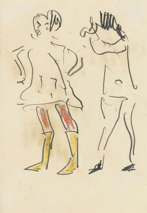 Erich Heckel - Figurenskizze