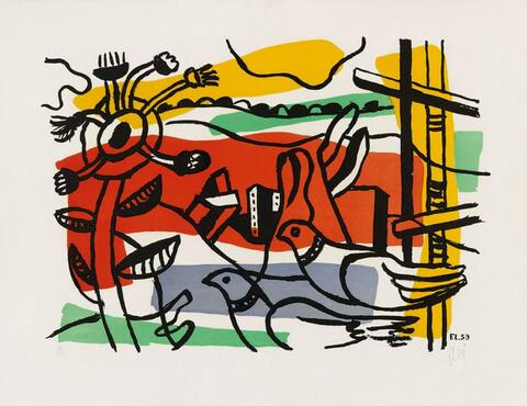 Fernand Léger - Composition aux deux oiseaux