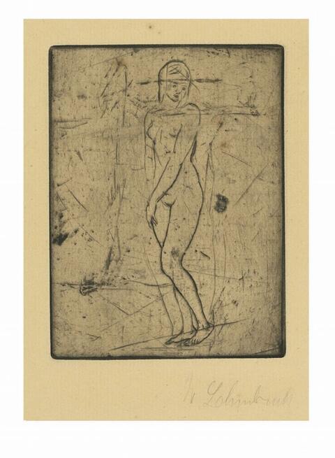 Wilhelm Lehmbruck - Sinnendes Mädchen (klein, ganz)