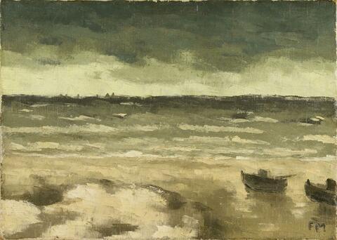 Frans Masereel - Boote am Strand