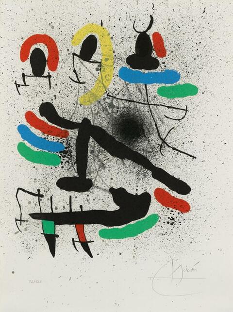 Joan Miró - From: Liberté des Libertés