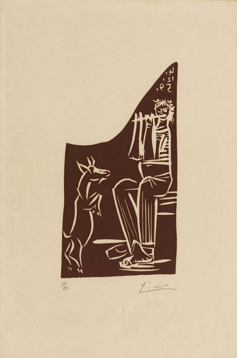 Pablo Picasso - Faune et chèvre