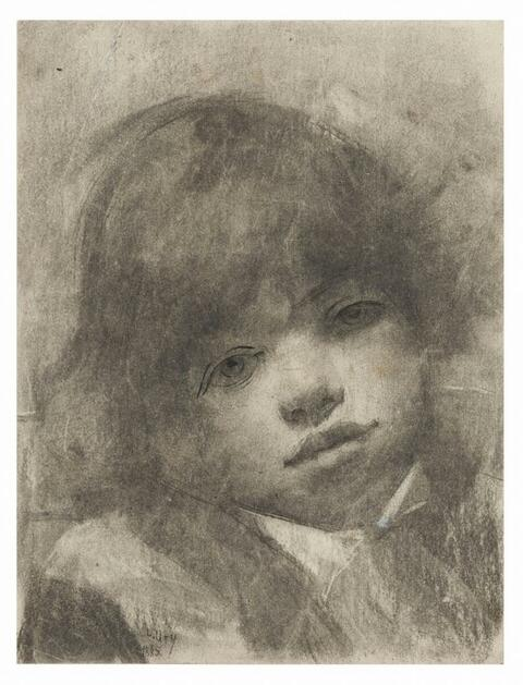 Lesser Ury - Brustbild eines Jungen