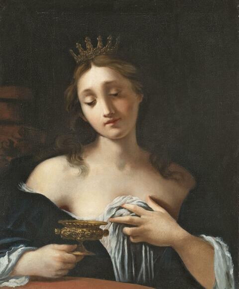 Französischer Meister des 17. Jahrhunderts - ARTEMISIA UM IHREN VERSTORBENEN GEMAHL TRAUERND