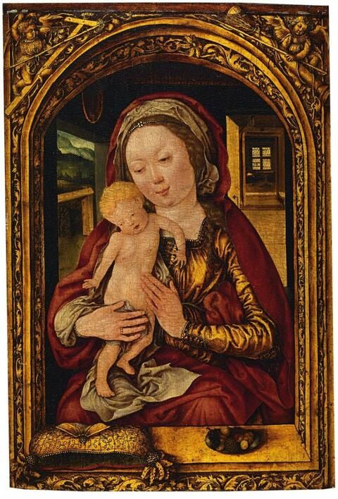 Central Rhine School Early 16th century - THE VIRGIN WITH CHILD