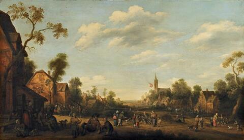 Joost Cornelisz. Droochsloot - VIEW OF A VILLAGE