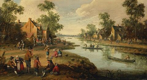 Joost Cornelisz. Droochsloot - DUTCH VILLAGE AT AN