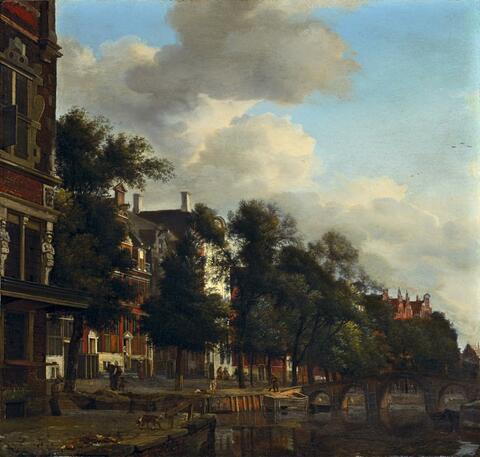 Jan van der Heyden - AN EINER GRACHT IN AMSTERDAM