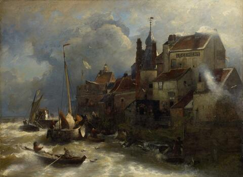 Andreas Achenbach - COASTAL SCENERY AND TOWNSCAPE