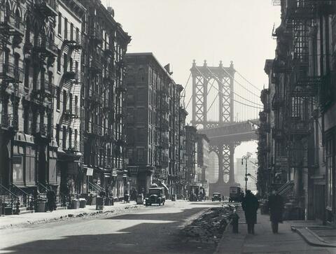 Berenice Abbott - Pike and Henry Streets, Manhattan, New York