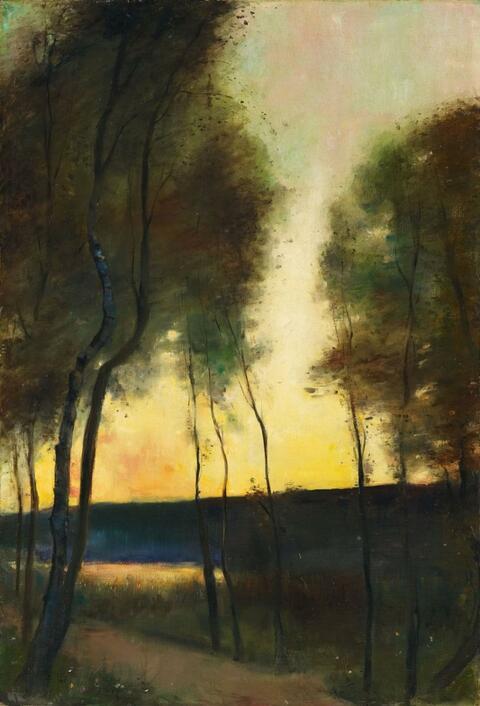 Lesser Ury - Herbststimmung am Grunewaldsee