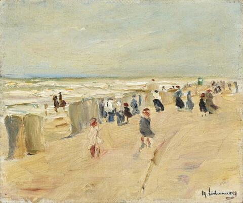 Max Liebermann - Strand in Nordwijk bei Sturm (Beach at Nordwijk in stormy weather)