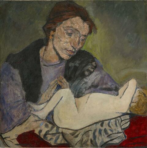 Mela Muter (Maria Melania Mutermilch) - Mütterlichkeit (Mutter mit Kind)