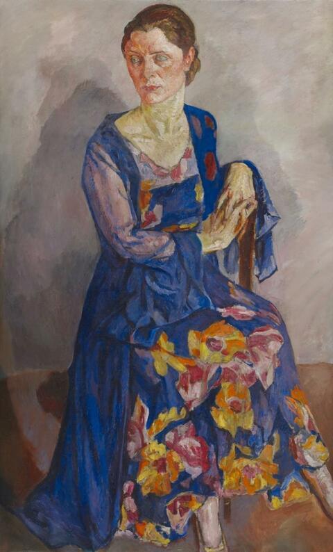 Mela Muter (Maria Melania Mutermilch) - Porträt einer Dame im Abendkleid