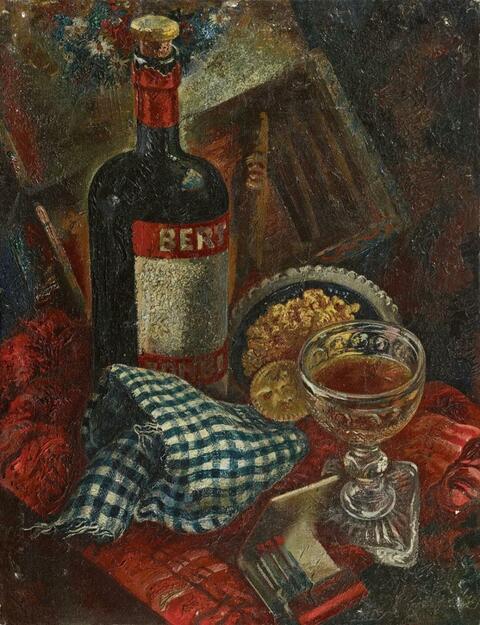 George Grosz - The checkered Napkin
