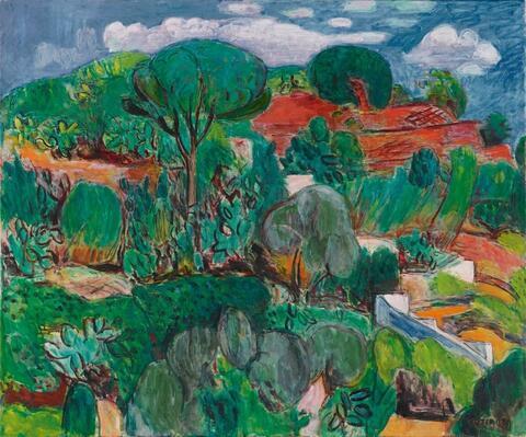 Hans Purrmann - Kakteenhügel auf Ischia (Cactus Hill on Ischia)