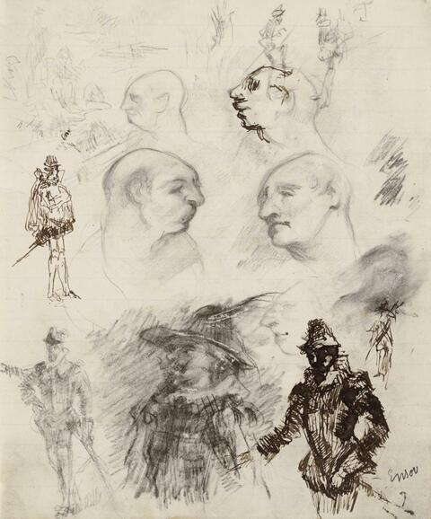 James Ensor - Faces and Knights