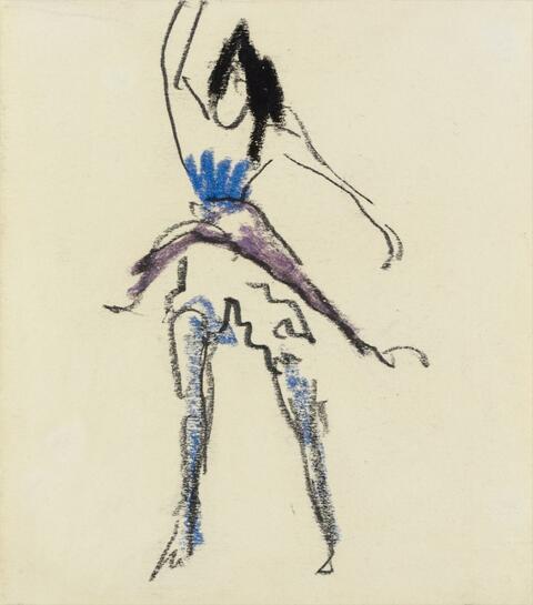 Erich Heckel - Tanzende mit erhobenem Rock