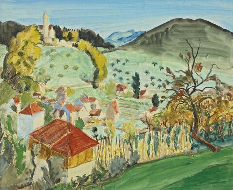 Erich Heckel - Herbst in Schwaben