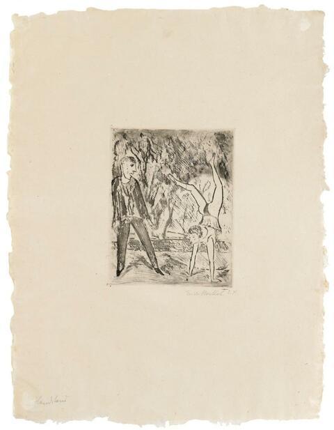 Erich Heckel - Handstand