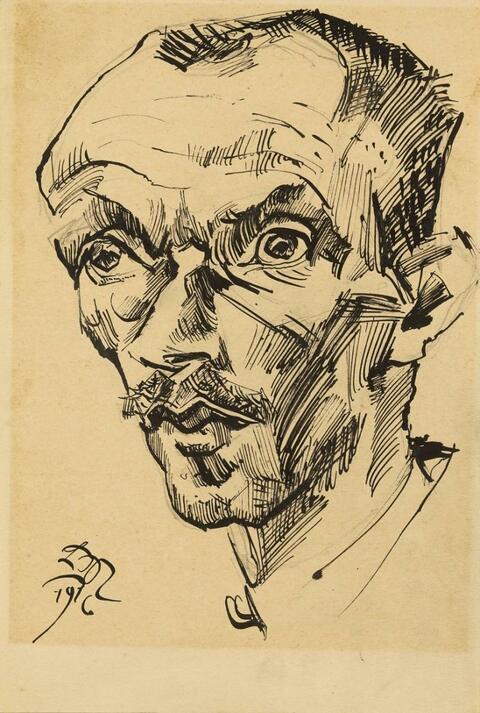 Ludwig Meidner - Bildnis eines Mannes (Portrait of a Man)