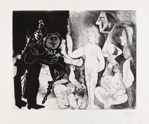 Pablo Picasso - Spectacle pour un Couple. Le Capitaine Frans Banningh Cocq et les Femmes