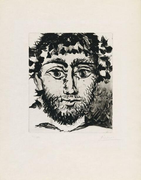 Nach Pablo Picasso - Tête de faune