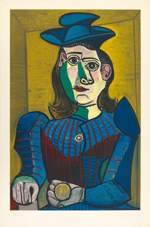 Nach Pablo Picasso - Femme assise (Dora Maar)
