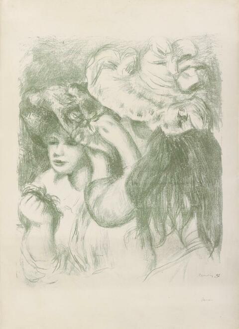Pierre-Auguste Renoir - Le chapeau épinglé, première planche