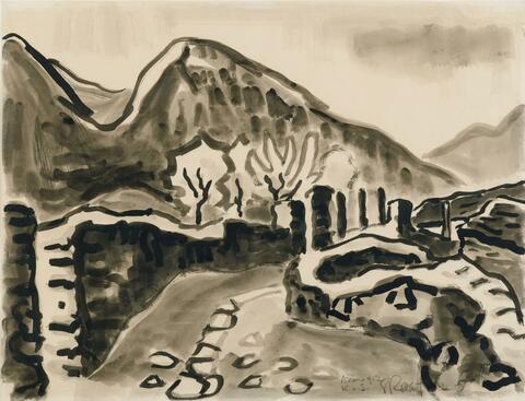 Karl Schmidt-Rottluff - Valle Maggia im Tessin