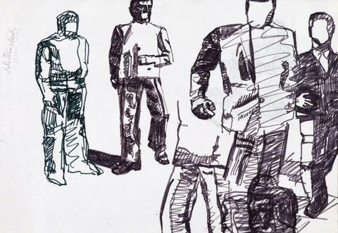 Eugen Schönebeck - Ohne Titel (Figurenstudie) / Untitled (figure study)