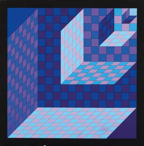 Victor Vasarely - Axo - New York