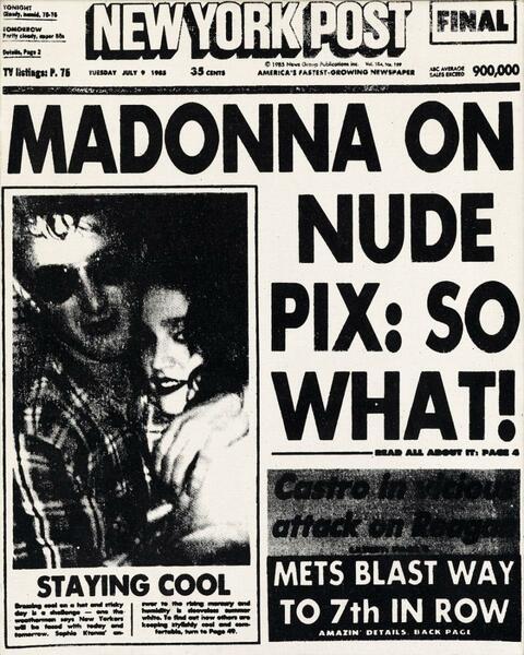Andy Warhol - Madonna painting