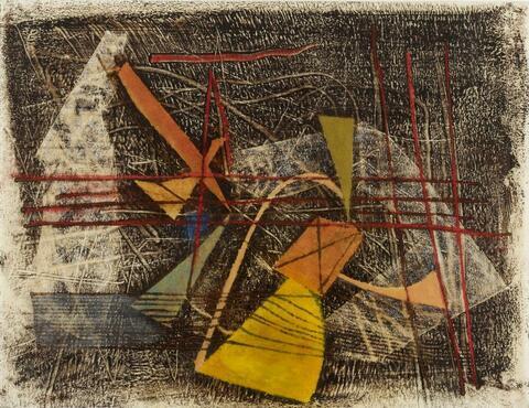 Fritz Winter - Gelb-Orange