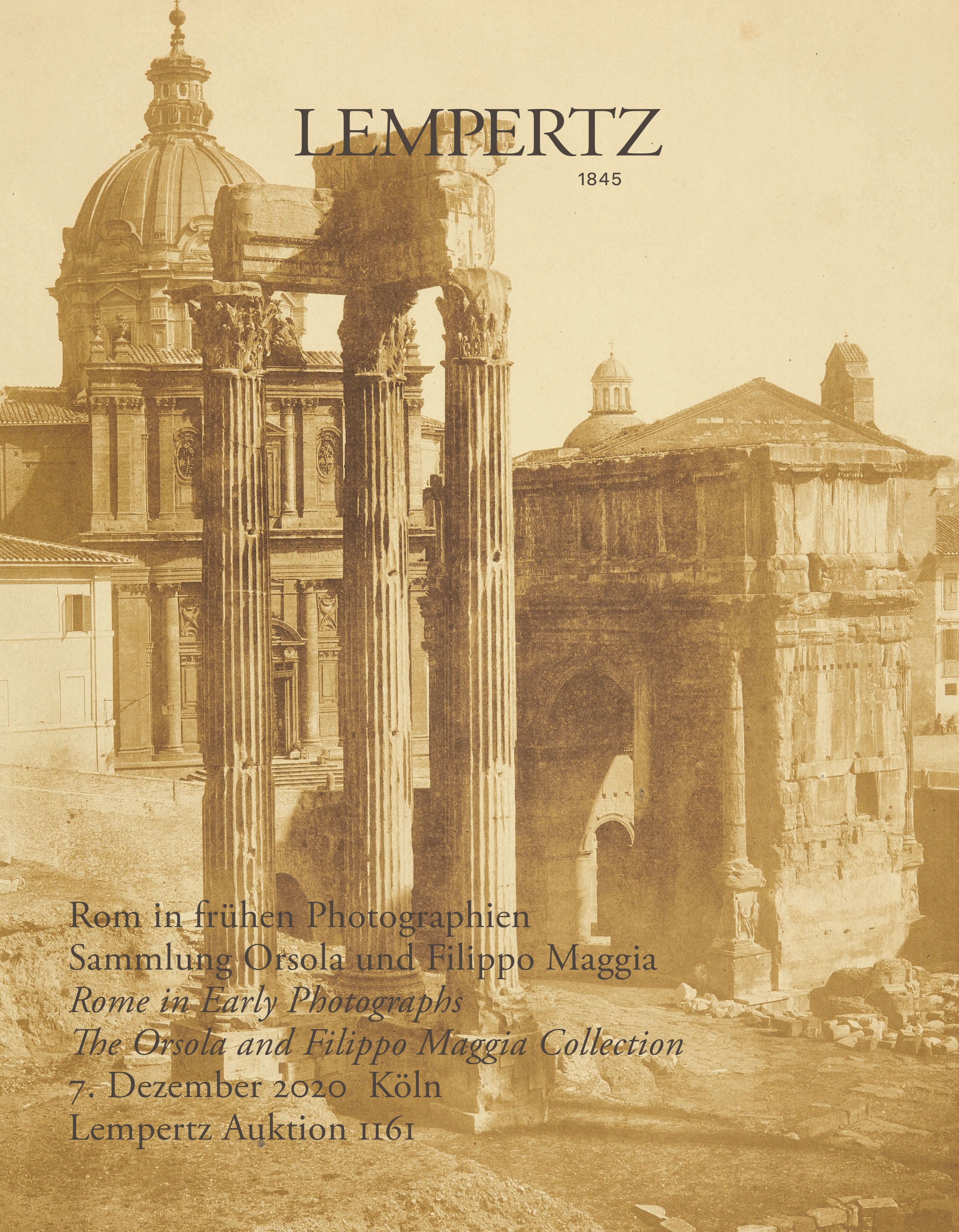 Catalogue - Rome in Early Photographs - The Orsola and Filippo Maggia Collection - Online Catalogue - Auction 1161 – Purchase valuable works of art at the next Lempertz-Auction!